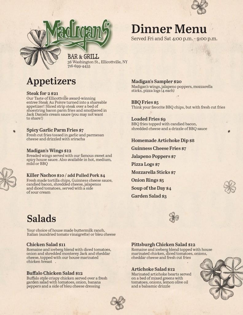 Dinner Menu-1