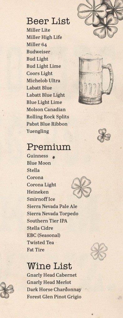 Late Night Menu and Beer List-2